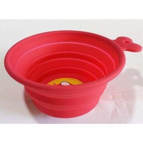 Ciotola silicone Easy Travel rossa appiattibile - Fuss-Dog