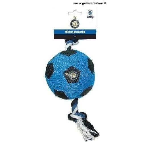 PALLONE CON CORDA ufficiale dell Inter per cani - Squadre di calcio Serie A