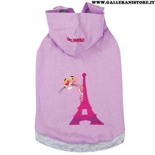 Canotta con cappuccio Pink Panther Lilla/Grigio per cani - La Pantera Rosa