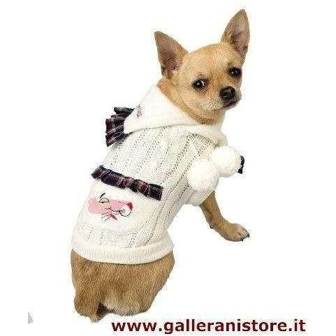 Maglioncino Pon Pon Pink Panther per cani - La Pantera Rosa