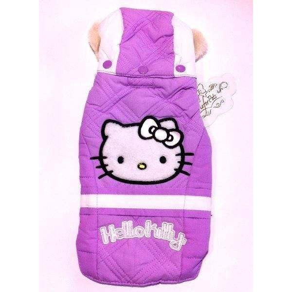 Piumino per cani HELLO KITTY Lilla - FIX FOR PETS