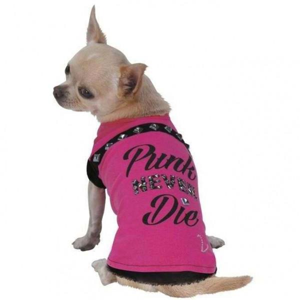 Maglietta Punk Never Die per cani - Croci Caniamici