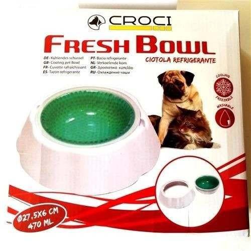 Ciotola Fresh Bowl 470ml refrigerante per cani - Croci