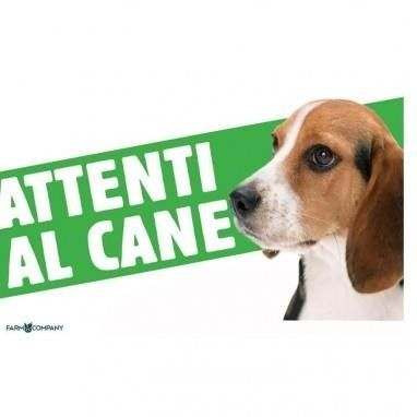 Cartello Attenti al cane Beagle - Farm Company