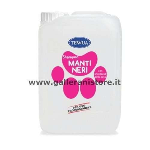 Tanica 10 Lt. Shampoo Manti Neri professionale - Tewua