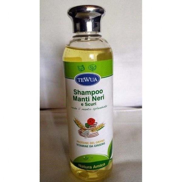 Shampoo per cani Manti Neri e Scuri - Tewua