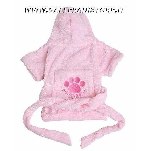 Accappatoio per cani Robe Pink Doggy Dolly - Taglia S