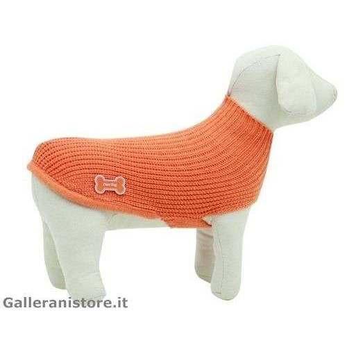 Maglione dolcevita LUX arancione cani - Fuss Dog