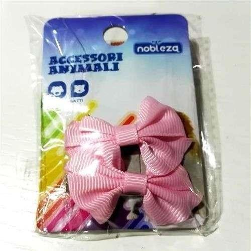 Fiocchetti c/molletta per cani rosa mod14 - Nobleza