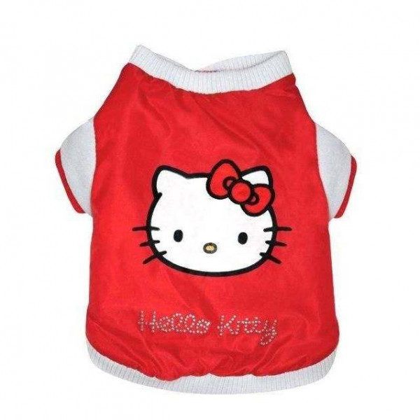 Classic Red Bomber per cani - HELLO KITTY