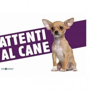 Cartello Attenti al cane Chihuahua - Farm Company