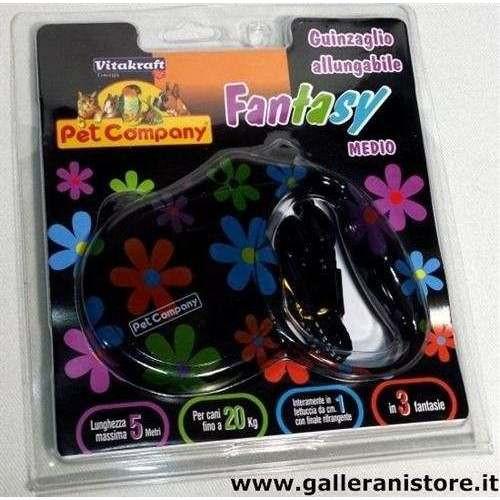 Guinzaglio allungabile Fantasy Fiori 20 kg - Pet Company
