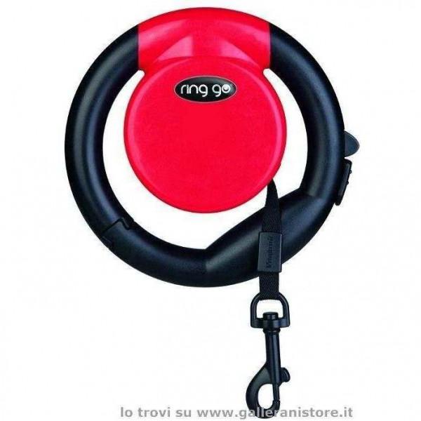 Guinzaglio allungabile RING GO Rosso - Vitakraft
