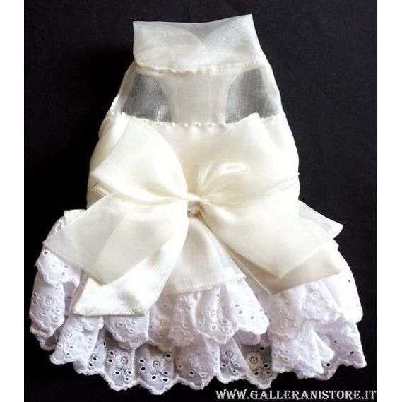 Vestitino da cerimonia sposa Cream Formal per cani - Doggy Dolly