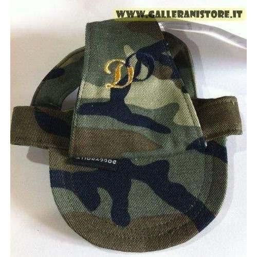 Cappellino XL Mimetico per cani con visiera DD Green Camouflage