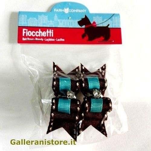 Fiocchetti azzurro strass per cani - Farm Company