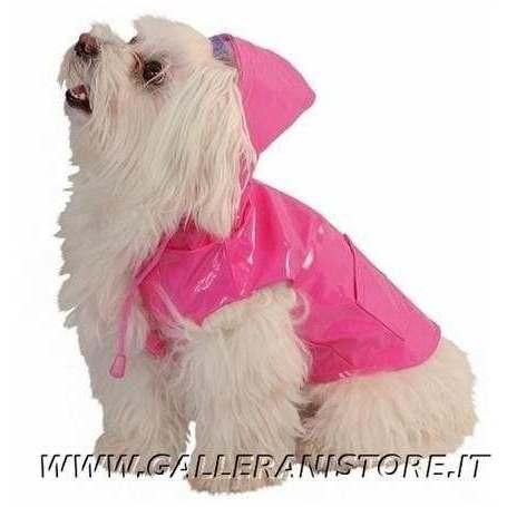 Impermeabile per cani RAINDROP Rosa Caniamici