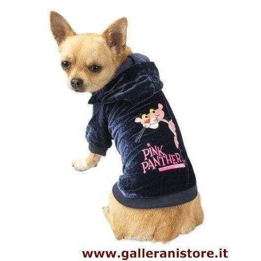 Felpa in velluto con cappuccio per cani - The Pink Panther