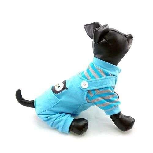 Pigiama tutina Animal Owl Blue per cani - Foufoudog