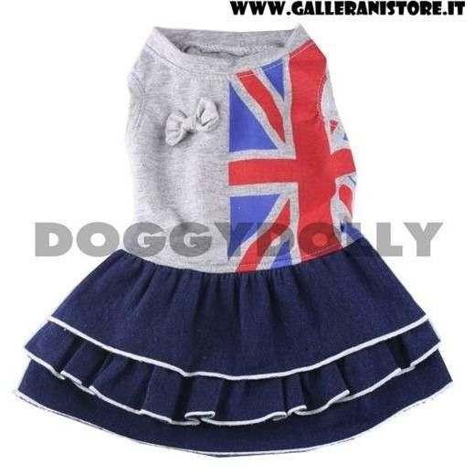 Vestitino Gery Union Girl London per cani - Doggy Dolly