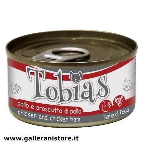 TOBIAS Pollo e prosciutto di pollo 85 gr cibo per cani - Croci