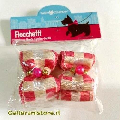 Fiocchetti con perline rosa per cani - Farm Company