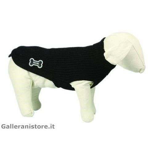 Maglione dolcevita LUX nero cani - Fuss Dog