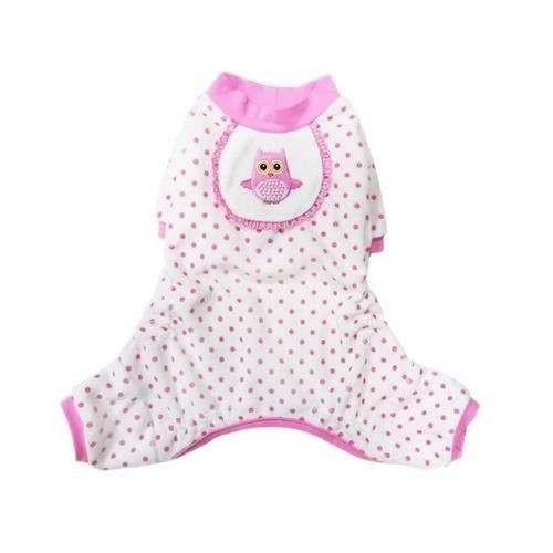 Pigiama Gufetto Pink ciniglia per cani - Pooch Outfitters Peppermint