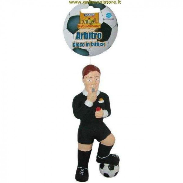 Arbitro calcio Gioco sonoro in lattice per cani - Linea Football
