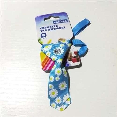 Mini Cravattina Azzurra fantasia per cani - Nobleza