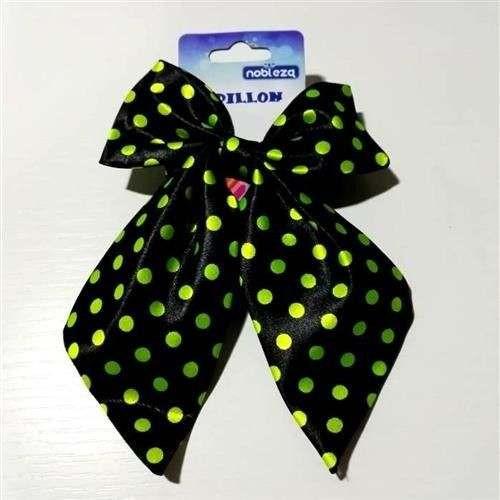 Papillon cravattone per cani Nero pois gialli - Nobleza