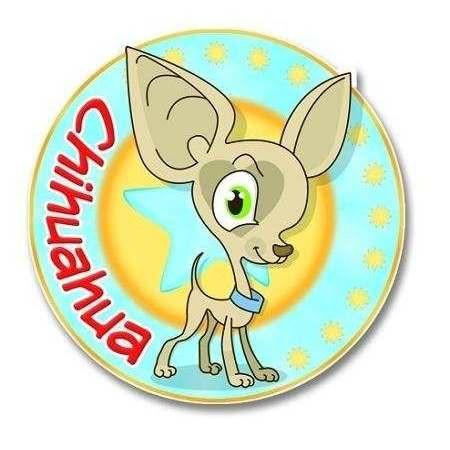 Adesivo Linea Chihuahua Nasonero Mod2