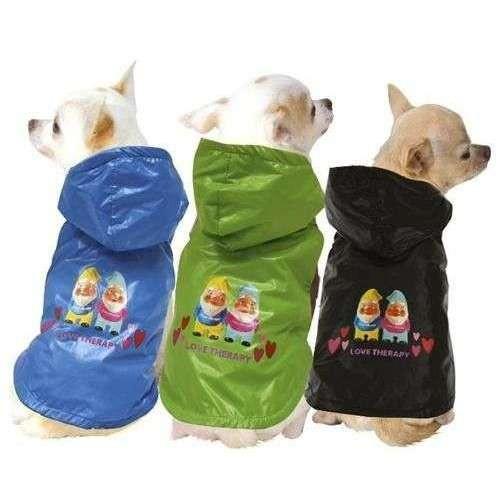 Impermeabile foderato LOVE THERAPY per cani - abbigliamento Fiorucci