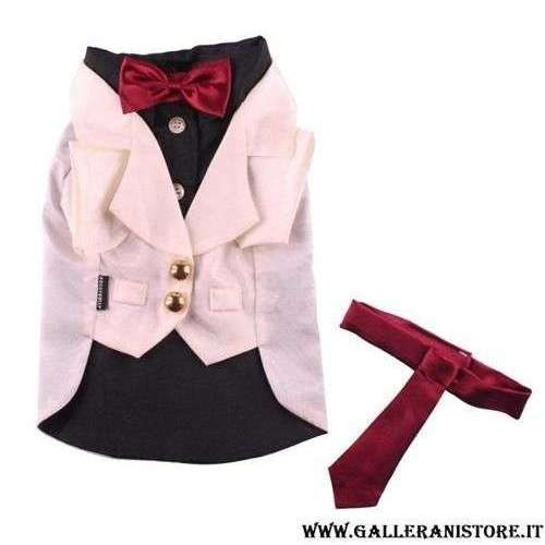 Smoking per cani White Cream Tuxedo - Taglia XS Doggy Dolly