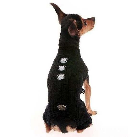 Tutina Lana M Nera per cani - Trilly tutti Brilli
