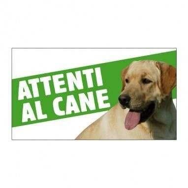 Cartello Attenti al cane Labrador - Farm Company