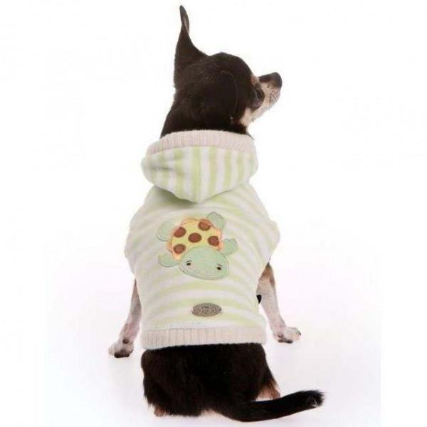Felpa rigata ciniglia/ecopelliccia Verde per cani - Trilly tutti Brilli