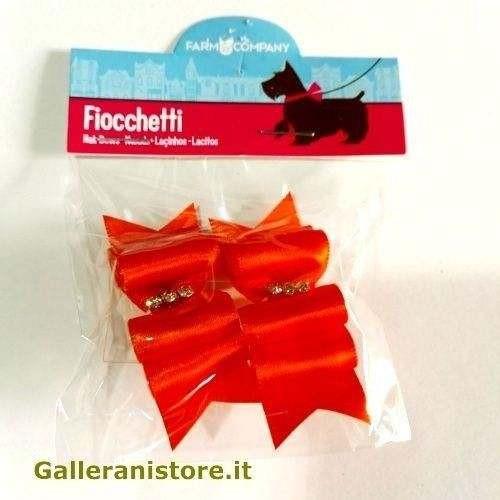 Fiocchetti Arancioni con strass centrali per cani - Farm Company