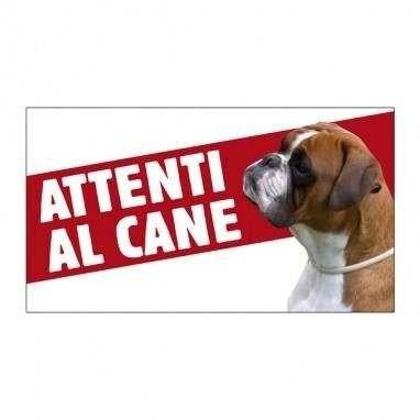 Cartello Attenti al cane Boxer - Farm Company