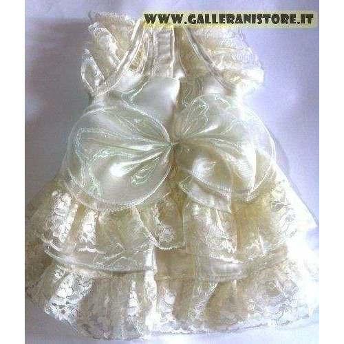 Cream Wedding vestito da cerimonia per cani - Doggy Dolly
