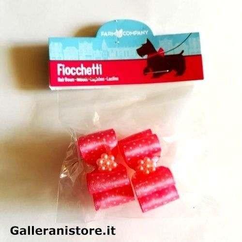 Fiocchetti Fucsia pois perline per cani - Farm Company
