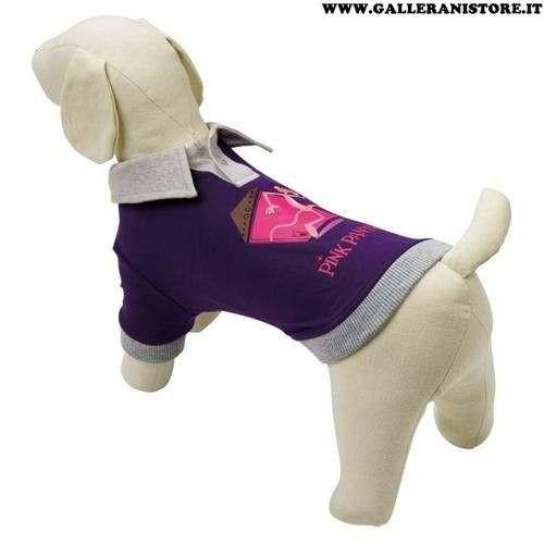 Polo Pink Panther Viola/Grigio per cani - La Pantera Rosa