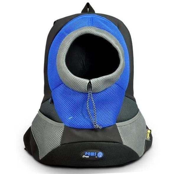 Zainetto trasportino blu/grigo per animali fino a 5 kg