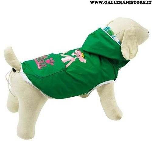 Impermeabile Pink Panther Verde/Scozzese per cani - La Pantera Rosa