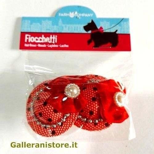 Fiocchetti Rossi per cani mod.Cappellino - Farm Company
