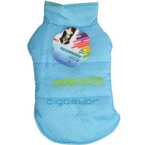 Fashion Jacket Giubbotto azzurro a pois per cani - Nobleza