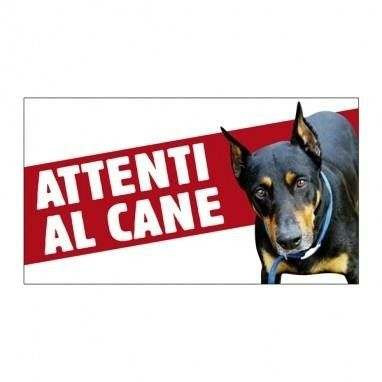 Cartello Attenti al cane Dobermann - Farm Company