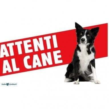 Cartello Attenti al cane Border Collie - Farm Company
