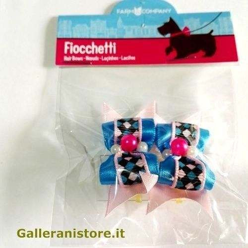 Fiocchetti Azzurri con perline per cani - Farm Company