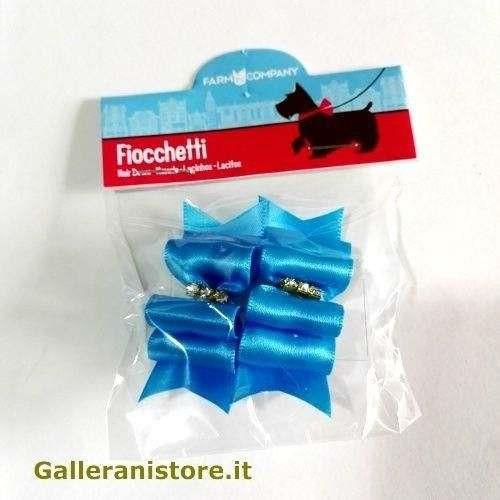 Fiocchetti Azzurri con strass centrali per cani - Farm Company